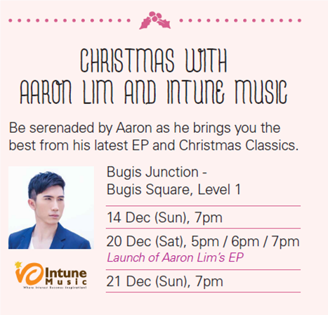 Carolling with Aaron Matthew Lim at Bugis Square