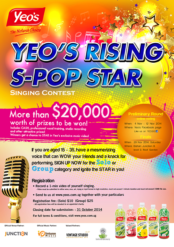 Yeos Rising S Pop Star Singing Contest 2014