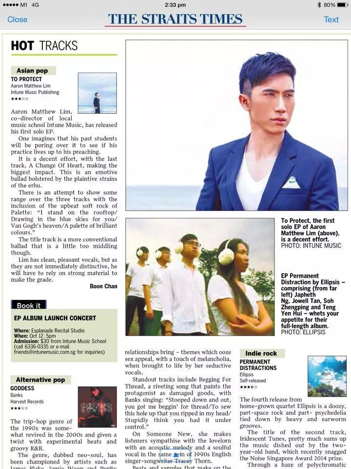 Aaron Matthew Lim CD Review ONLINE Article 25 Sep 2014
