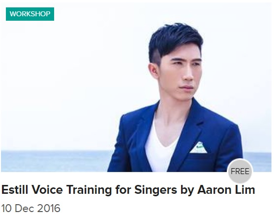 Estill Voice Training for Singers by Aaron Matthew Lim at Esplanade Recital Studio 10 Dec 2016
