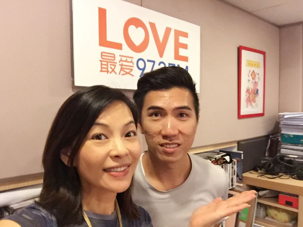 DJ Wendy 曾晓英 and Aaron Matthew Lim on 972FM for Estill Voice